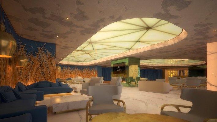 Lounge & Bar Area at Hotel Savory Palace