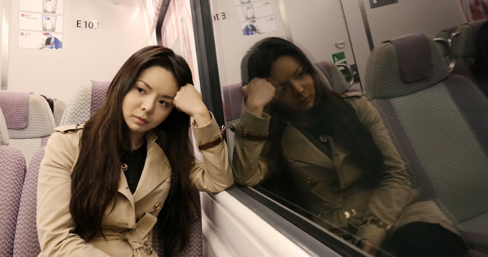 anastasia lin on train