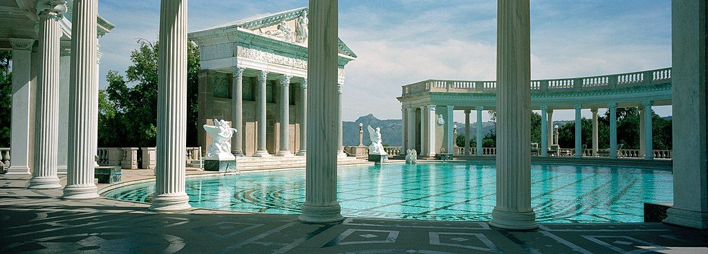 pool at hearst castle san simeon ca private house museums usa