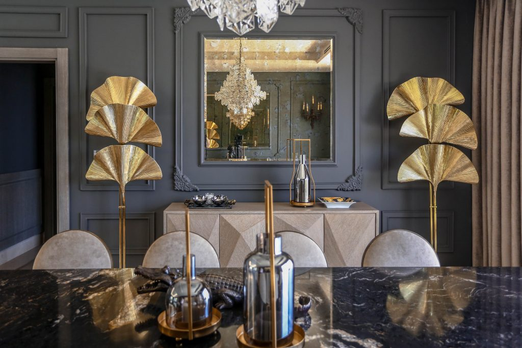 luxury dining room in amman based interior design project by maysoon haymoor