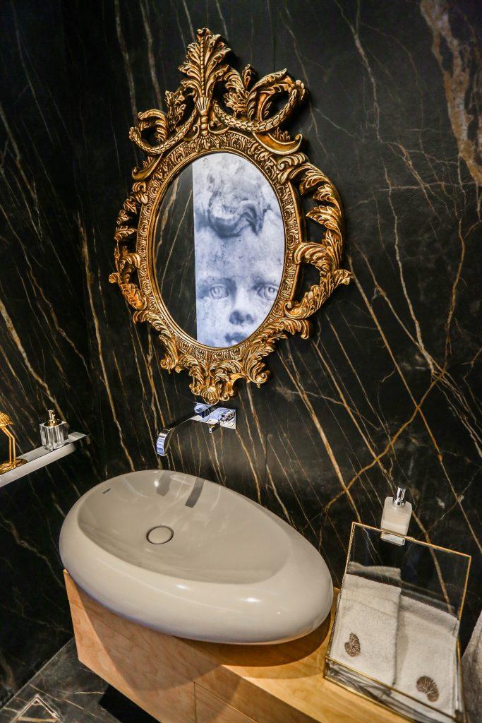 luxury powder room in an amman based interior design project by maysoon haymoor