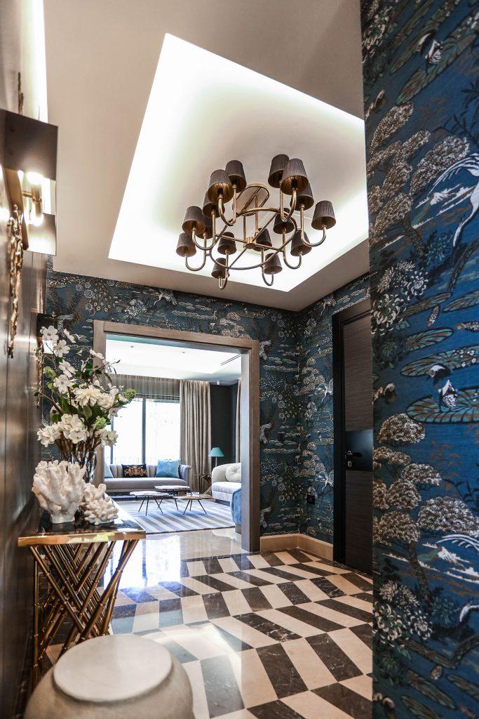 entryway in amman based interior design project by maysoon haymoor