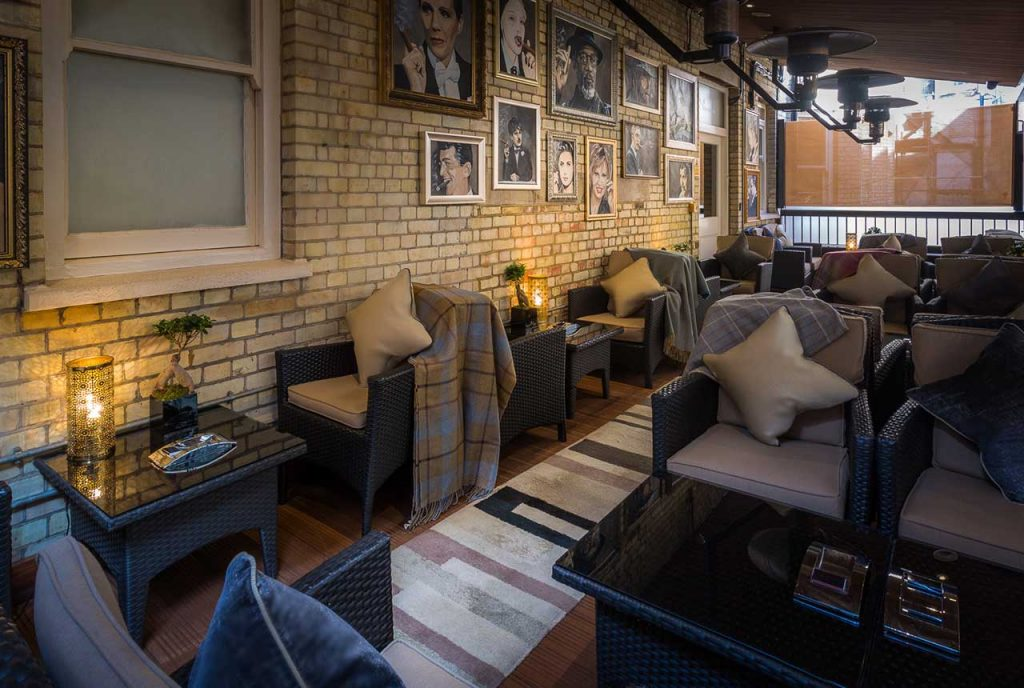 Cigar Terrace at the No. Ten Manchester Street Hotel - best london cigar bars