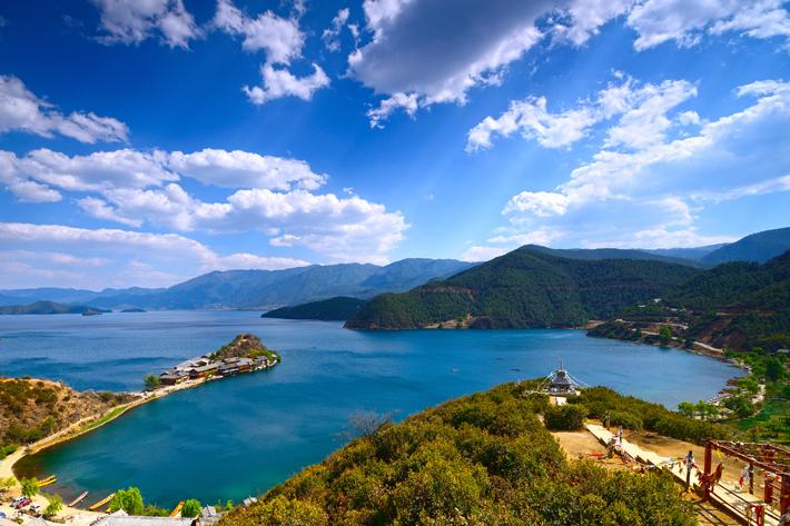 Lugu Lake in Yunnan, China - home of the mosuo society
