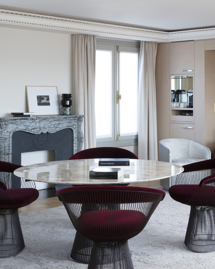 guest room luxury designer furniture   at Hotel Bowmann Paris by Laurent Maugoust