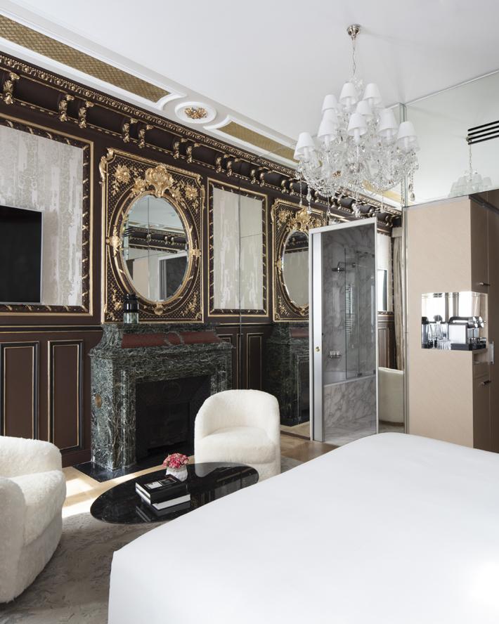 guest room at Hotel Bowmann Paris by Laurent Maugoust