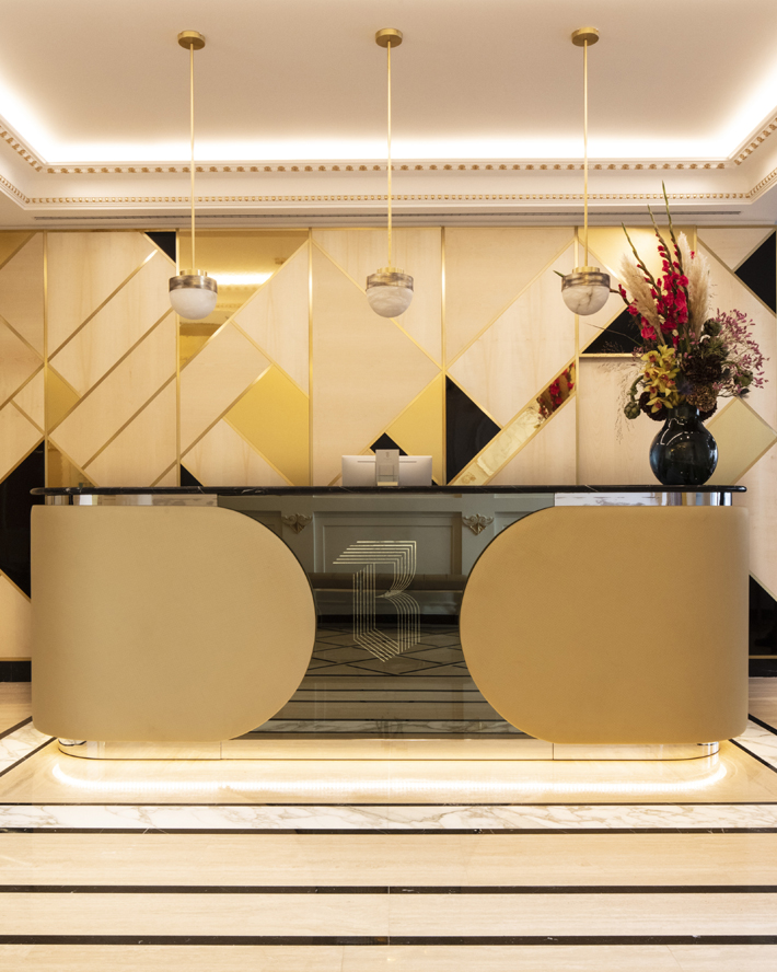 lobby at Hotel Bowmann Paris by Laurent Maugoust