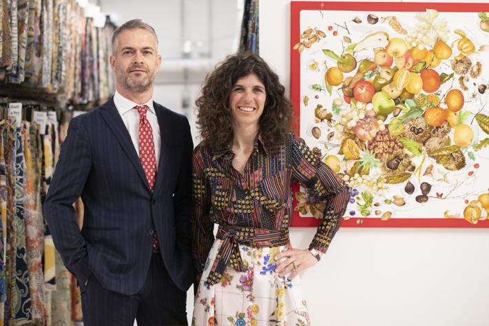 Franco Mantero e Lucia Mantero - italian silk in Monza Italy