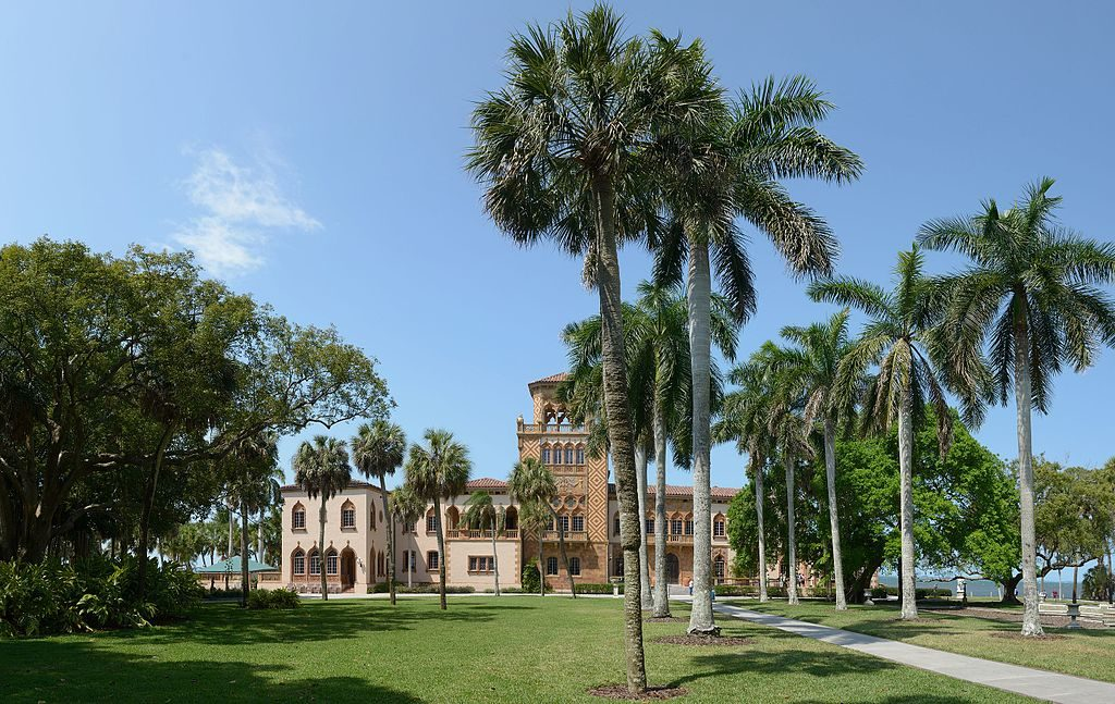 The Ringling's Mansion, Ca' d'Zan Source: Photo by Wolfgang Moroder | Wikimedia Commons