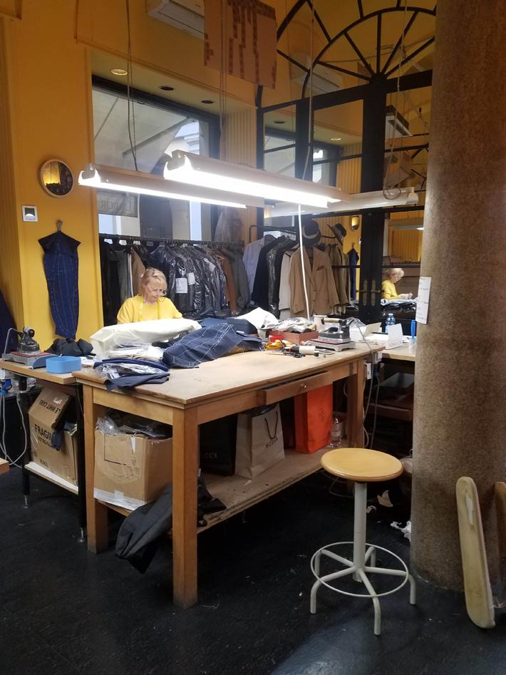 rubinacci work room - fashion in milan