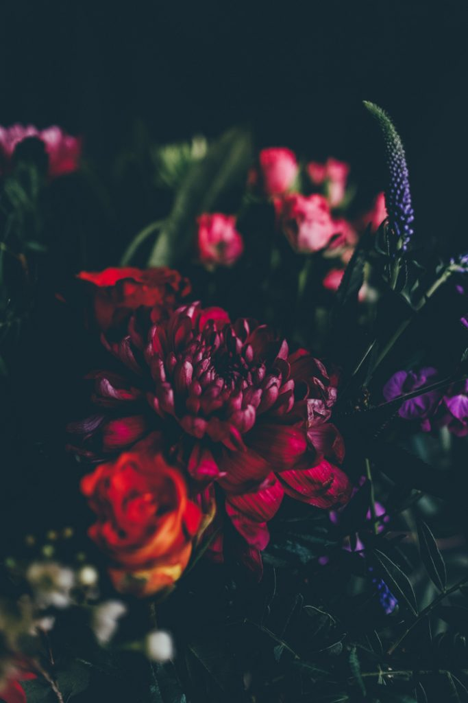 using warm colored flowers when decorating your home with flowers