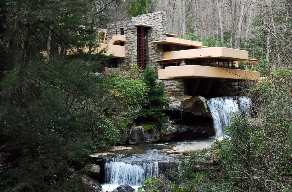 fallingwater by frank lloyd wright private house museums usa