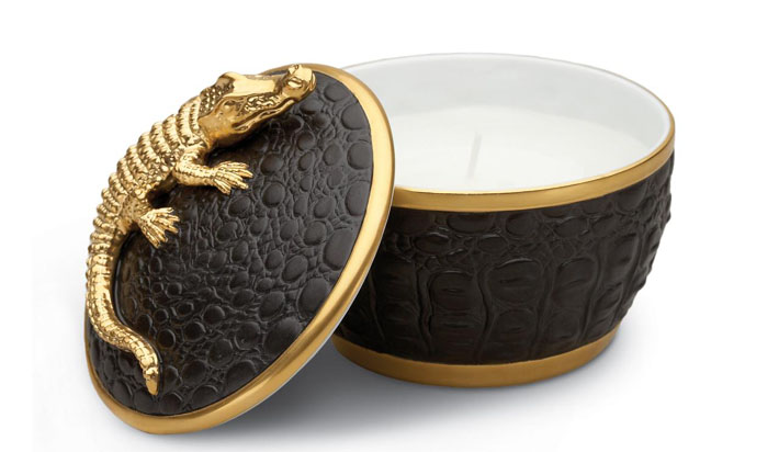 Crocodile Candle by L'Objet - luxurious gifts for every occasion
