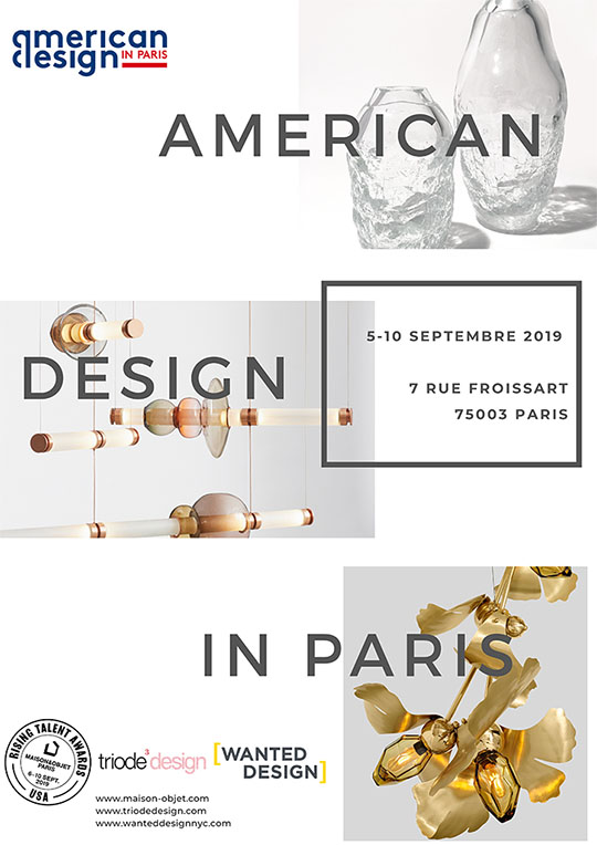 a tribute to american design in paris - a tribute to the usa - paris design week 2019