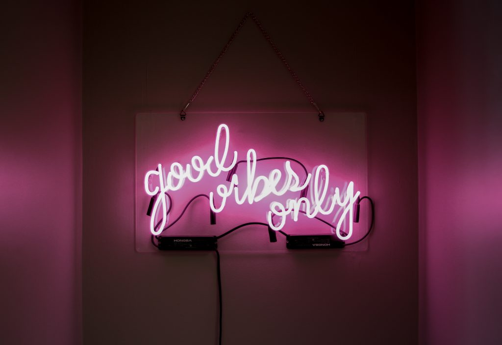 good vibes only neon sign - ways to develop a winning mindset