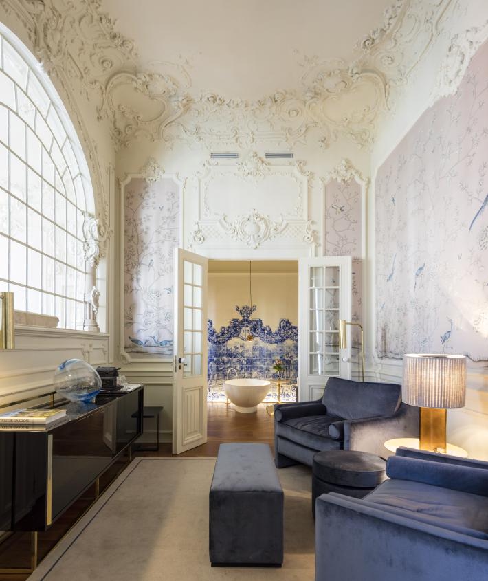 Royal Suite at  Verride Palácio Santa Catarina in Lisbon