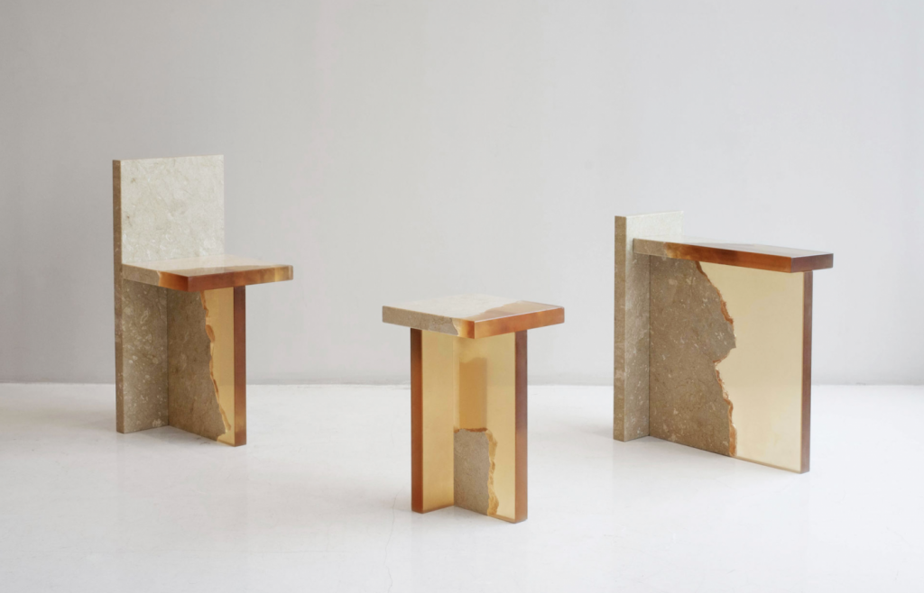 tables and seating by fict studio