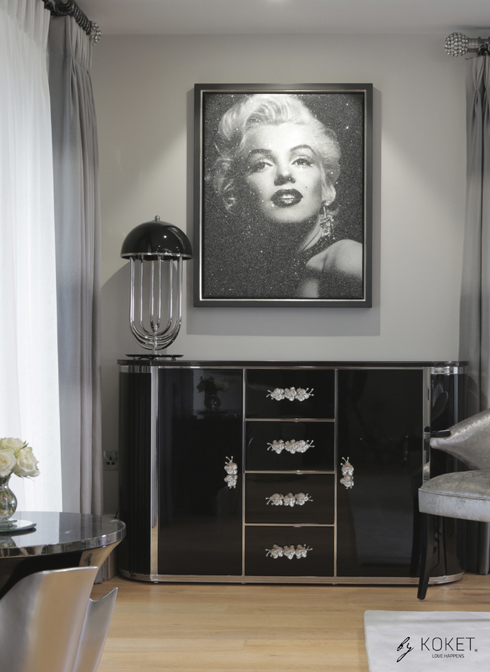 displaying your artwork koket orchidea sideboard Marilyn Monroe photo
