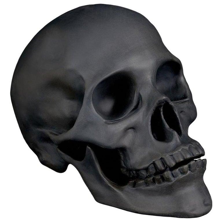Black Limoges Porcelain Skull from 1stDibs