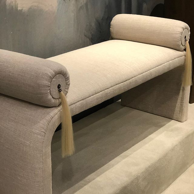 Curves were also seen in benches like this beautiful one by Bradley USA