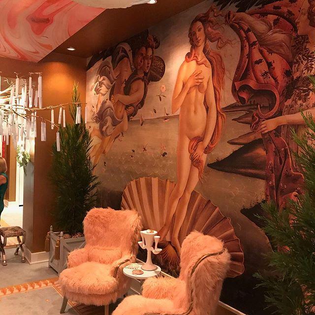 Interior designer Sasha Bikoff's Botecelli-inspired installation at the Current & Co. showroom