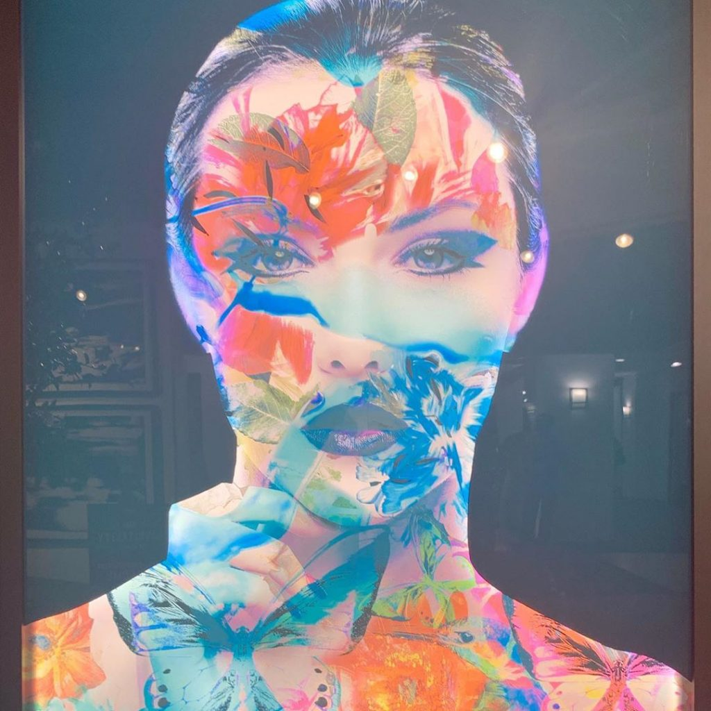 floral and nature inspired portrait pop art by left bank art - 2020 interior design trends to watch