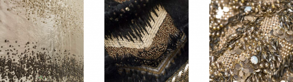 metallic embroidered fabrics by fameed khalique