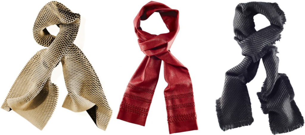 luxury scarves made from innovative materials by khalique