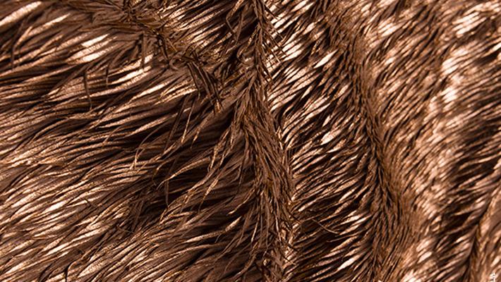 bronze cut leather textile
