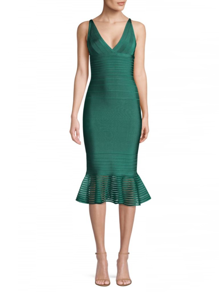 green herve leger dress Holiday Party Dresses Idea