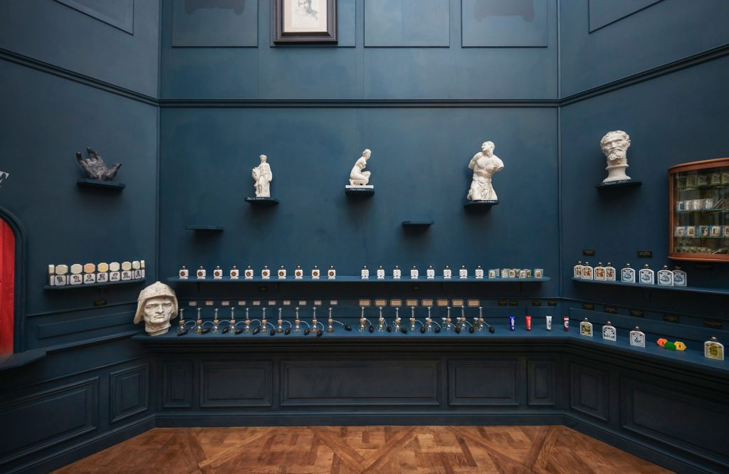 Offinice Universelle Buly 1803 pop-up at the Louvre Paris showcasing luxury fragrance