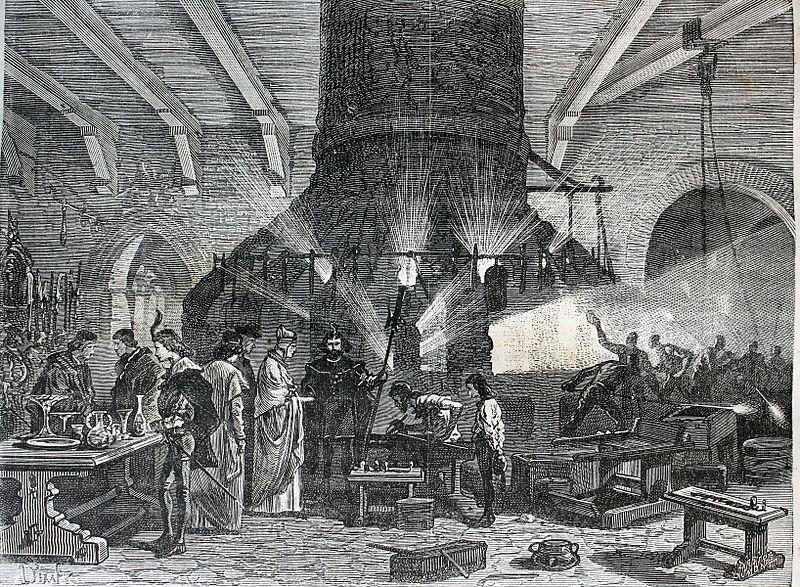 The Doge of Venice visiting the glass factories of Murano, Italy From the Biblioteca de la Facultad de Derecho y Ciencias del Trabajo Universidad de Sevilla
