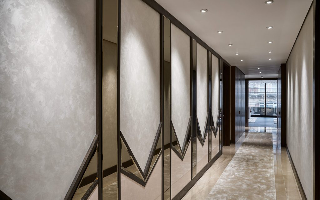 london projects prime construction refurbishment hallway design with art deco inspiration