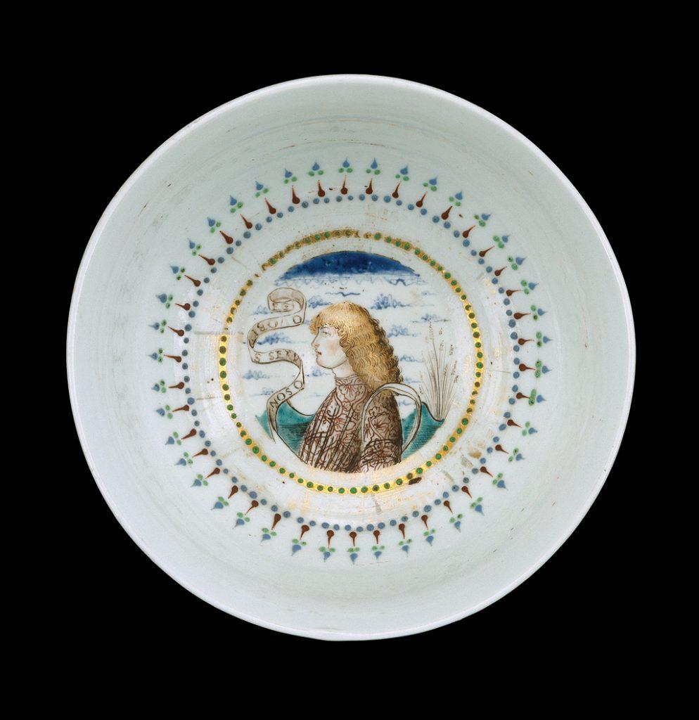 A Venetian Renaissance-era lattimo plate
