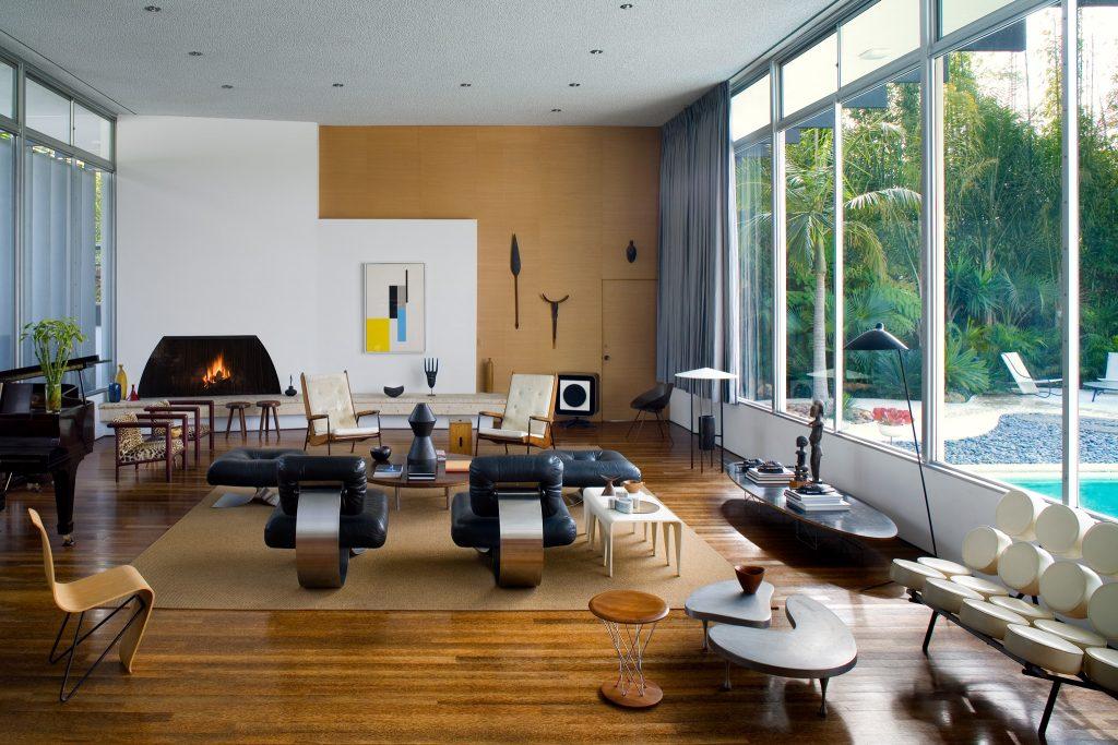 Oscar Niemeyer House California, Designed & Owned by Michael Boyd, photo by steve freihon