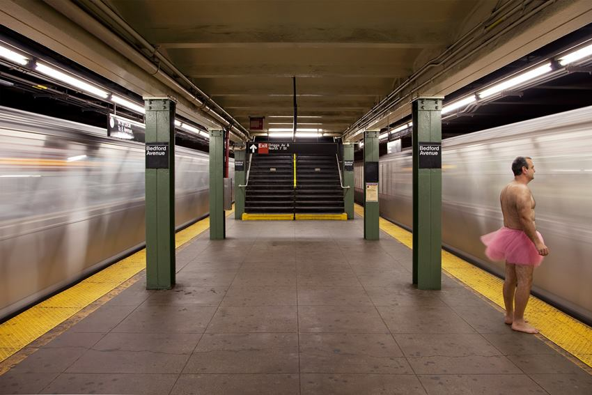 L Train. Brooklyn, New York City - the tutu project - breast cancer foundation