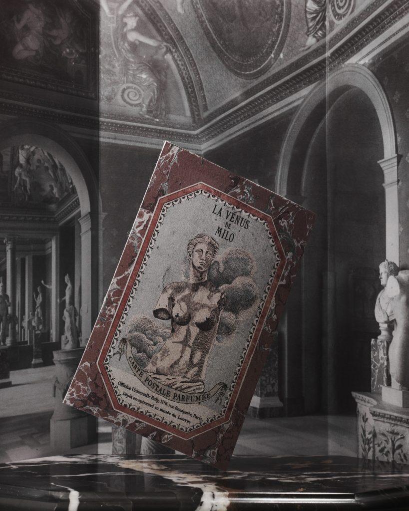 Scented Postcard La Vinus de Milo featuring luxury fragrance by buly 1803