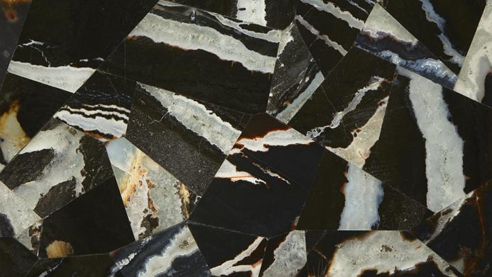 zebra marble in random pattern