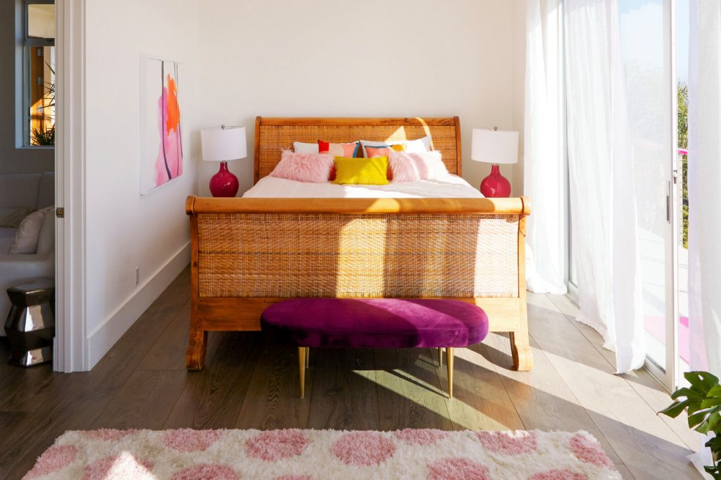 barbie malibu dreamhouse airbnb bedroom