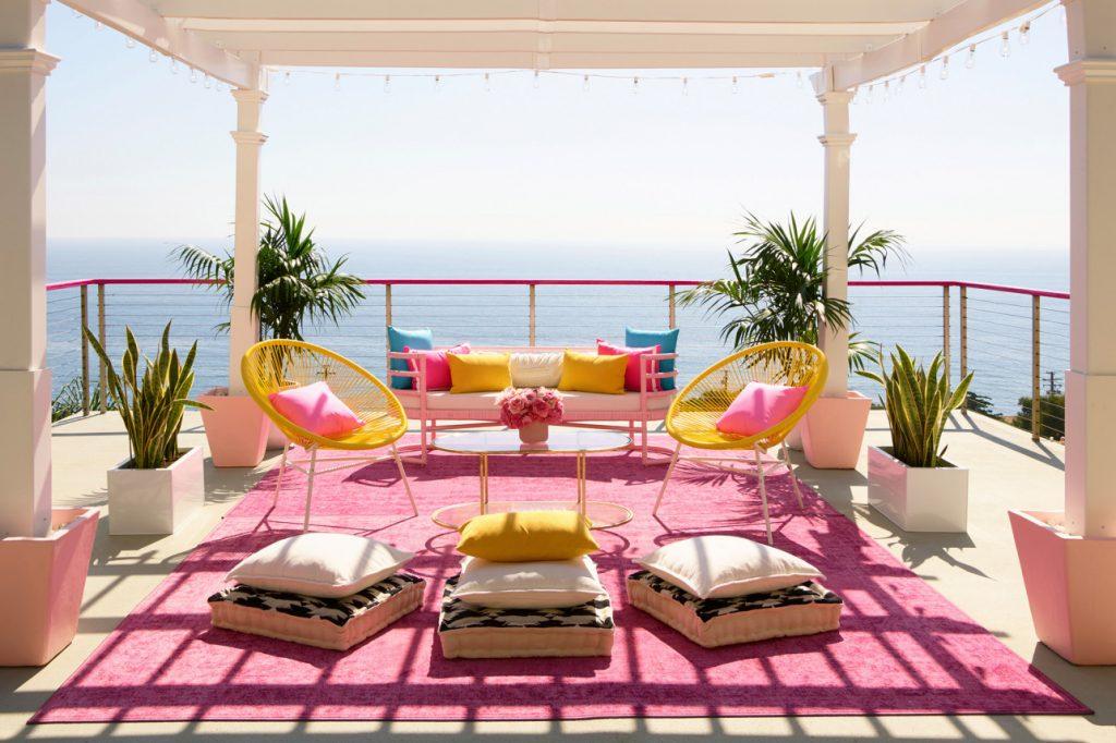 barbie malibu dreamhouse airbnb balcony deck