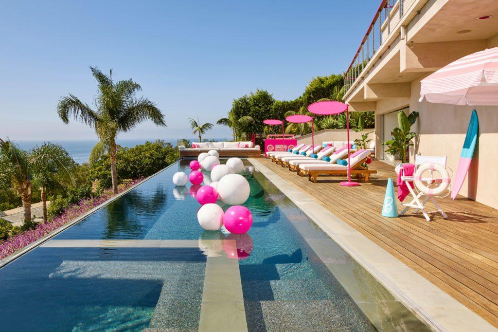 barbie malibu dreamhouse airbnb infinity pool
