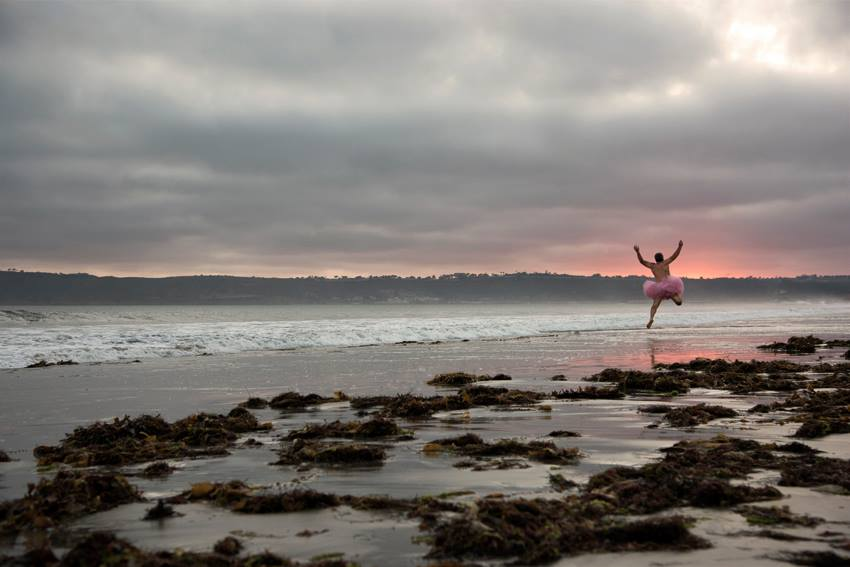 Jump. Coronado Island, California. the tutu project breast cancer foundation