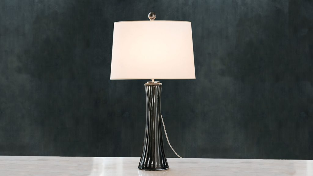 murano glass inspired Canna Table Lamp by Cartwright NY - unique luxury lighting brands to know