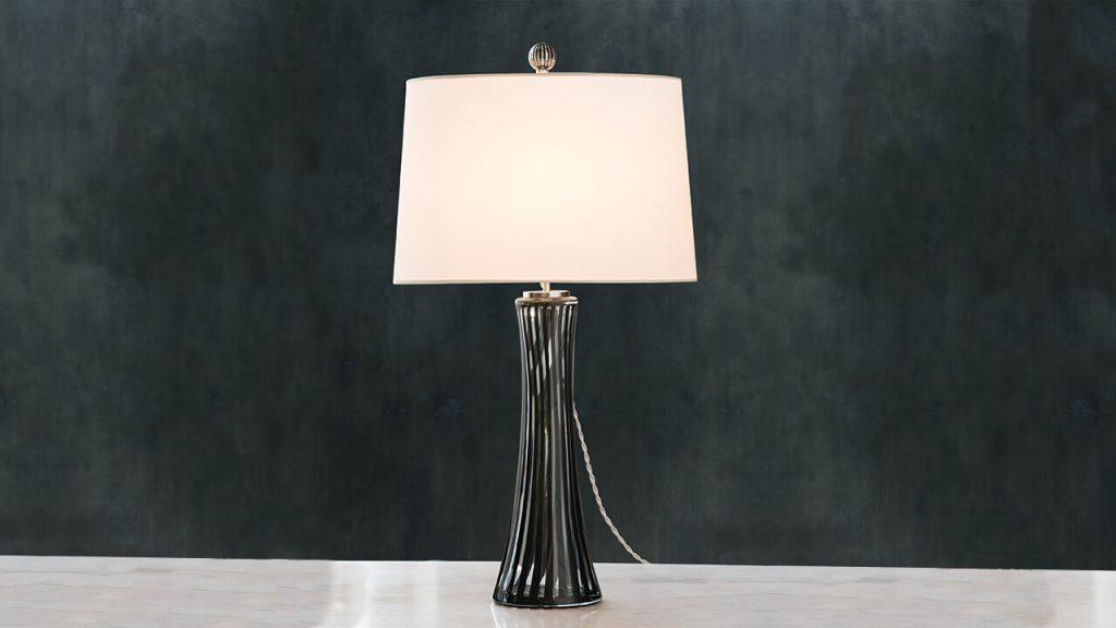 murano glass inspired Canna Table Lamp by Cartwright NY