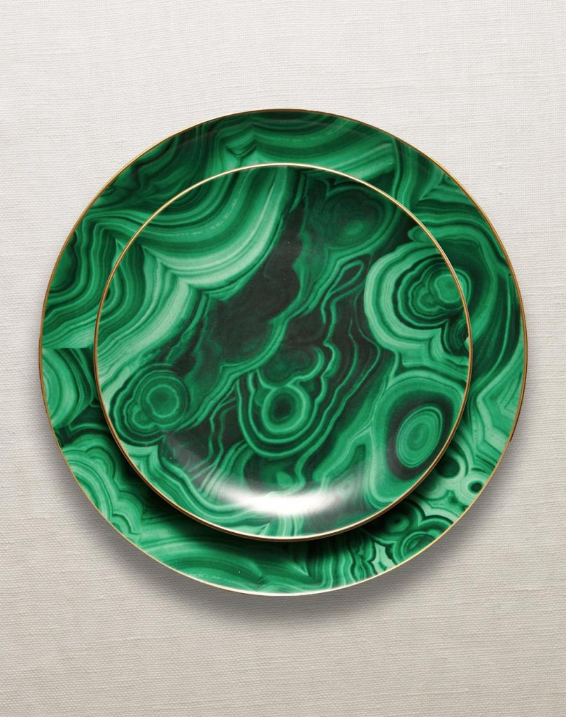 Malachite Dinnerware by L'Objet