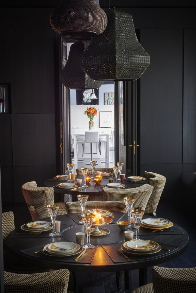 Belle de Nuit Dinnerware Collection by Marie Daage - new years decorating ideas