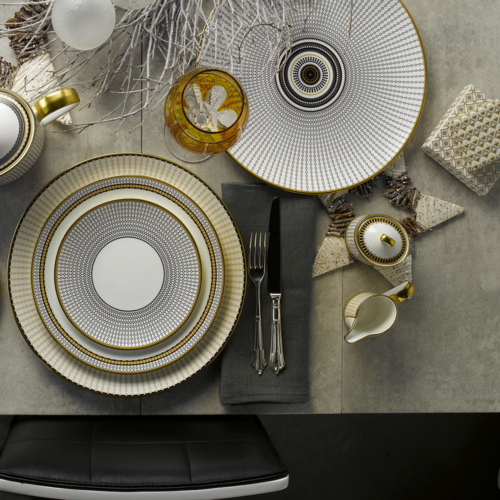Oscillate holiday dinnerware Collection from Royal Crown Derby
