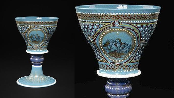 renaissance era turquoise armorial goblet waddesdon bequest british museum
