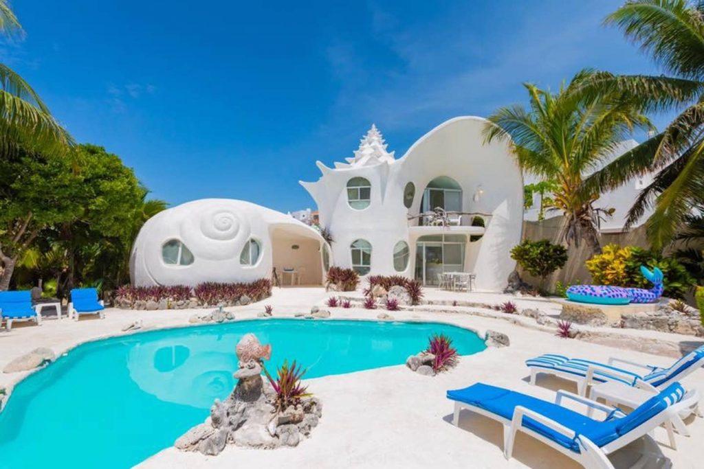 seashell house casa caracol isla mujeres mexico airbnb