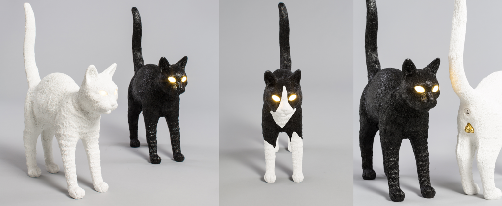 Jobby the Cat Lamps by Seletti - dark decor